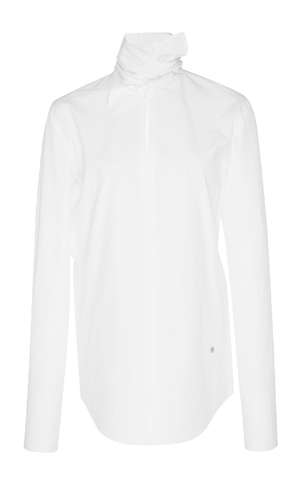 Nina Ricci Poplin Blouse In White