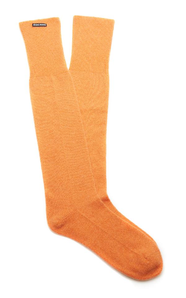 Rochas Calzino Cashmere Sock In Orange