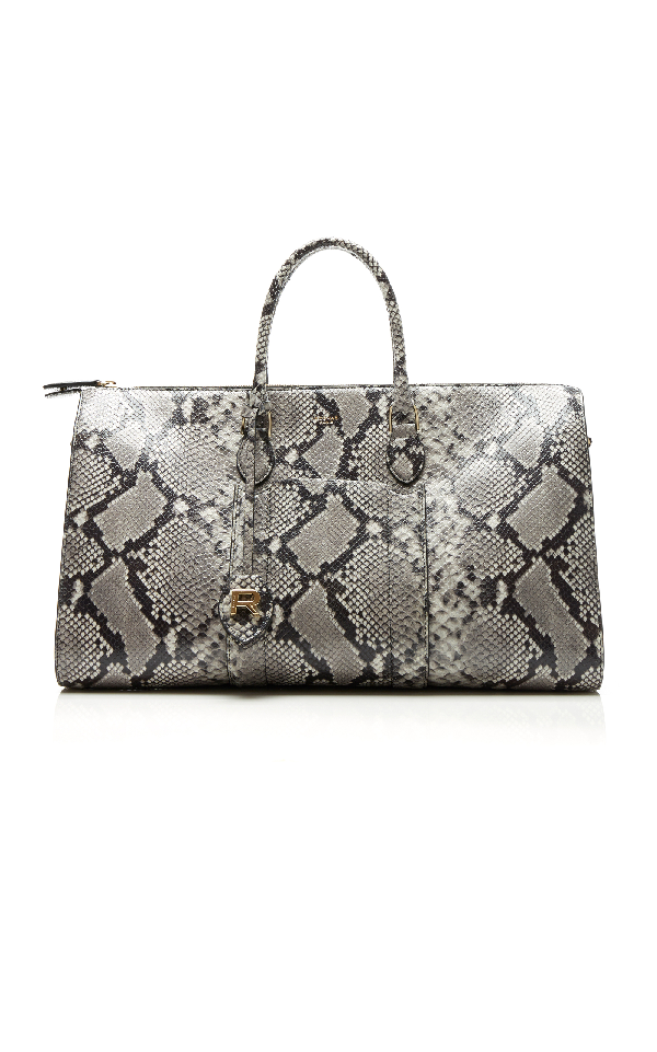 Rochas Large Bauletto Bag In Python