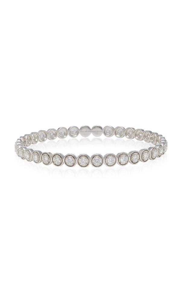 Sara Weinstock Round Bezel White Gold And Diamond Bangle