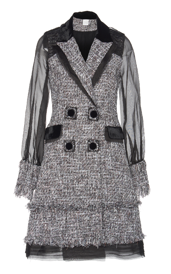 Huishan Zhang Harper Coat In Grey