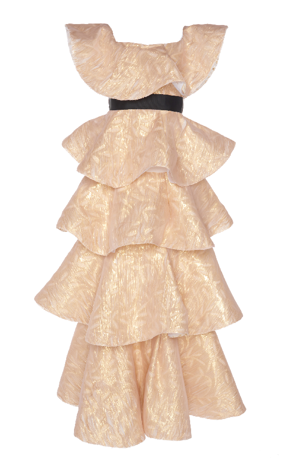 Huishan Zhang Kate Dress In Metallic