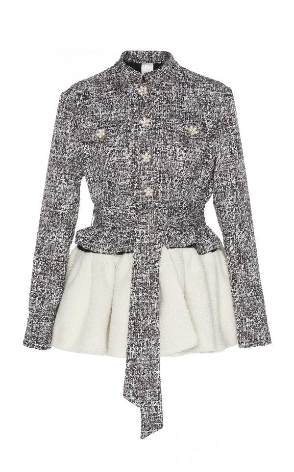 Huishan Zhang Corine Frill Jacket In Grey