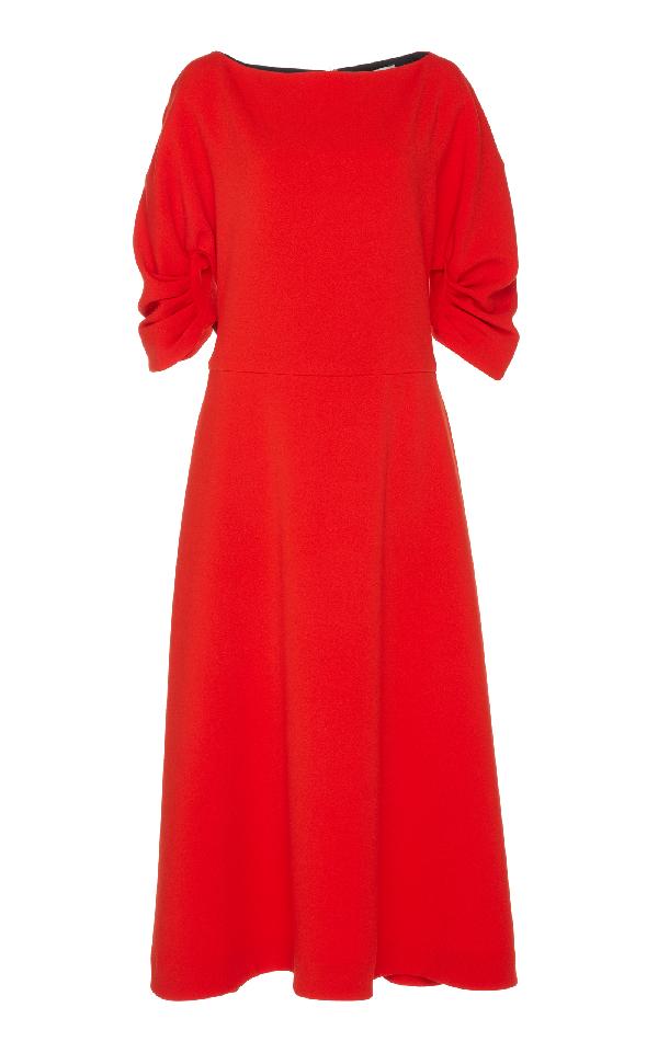 Emilia Wickstead Blueberry Dress In Orange