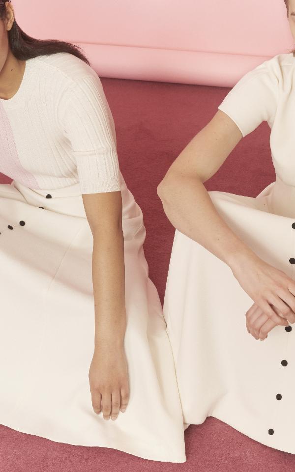 Emilia Wickstead Robin Skirt In White
