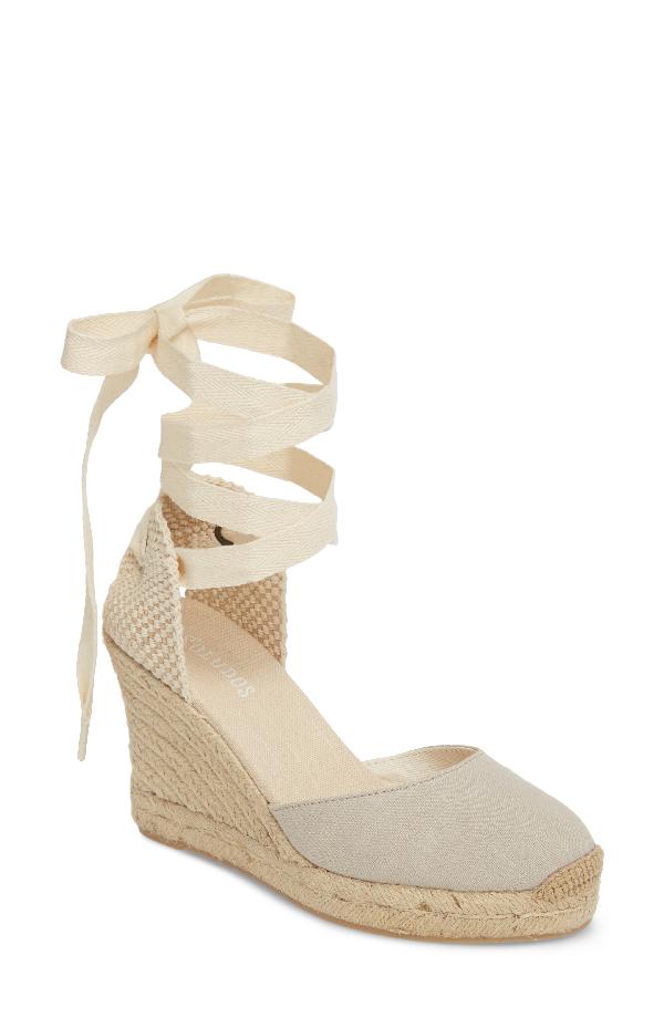 Soludos Espadrille Wedge Sandal In Light Gray