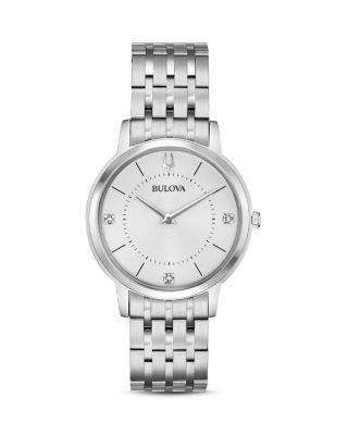 Bulova Classic Slim Watch, 34mm In Silver