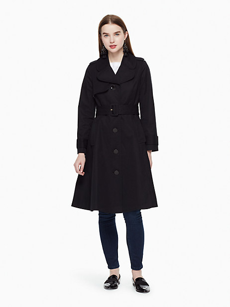 Kate Spade Classic Trench Coat In Black