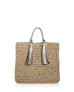 Loeffler Randall Straw Tote - 100% Exclusive In Natural Multi/silver
