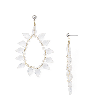 Aqua Spiked Drop Earrings - 100% Exclusive In Clear