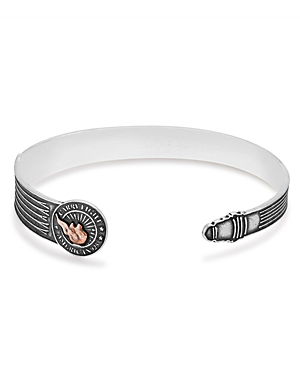 Alex And Ani Carry Light Cuff In Silver