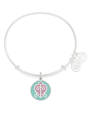 Alex And Ani The Way Home Expandable Wire Bangle, Charity By Design Collection In Rafaelian Silver