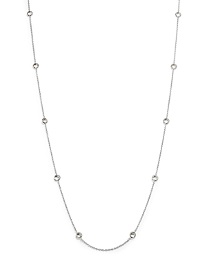 Ippolita Sterling Silver Rock Candy Long Stone Station Necklace In Clear Quartz, 48 In White/silver