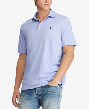 Polo Ralph Lauren Soft-touch Classic Fit Short Sleeve Polo Shirt In Austin Blue