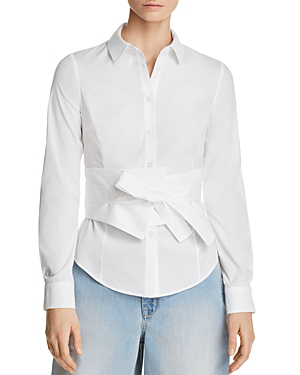 Karen Millen Tie-front Shirt - 100% Exclusive In White