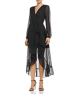 Wayf Only You Ruffle Wrap Dress - 100% Exclusive In Black