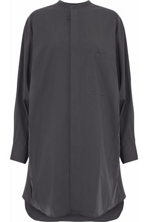 Acne Studios Siva Oversized Cotton-poplin Shirt Dress In Charcoal