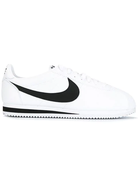 watch 39753 fbbaa Men's Classic Cortez Leather Casual Sneakers From Finish Line in White/Black