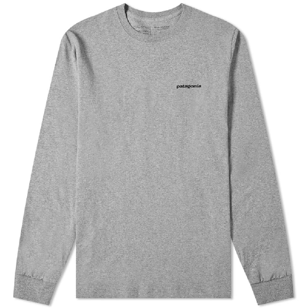 Patagonia Responsibili-Tee Long Sleeve T-Shirt In Grey