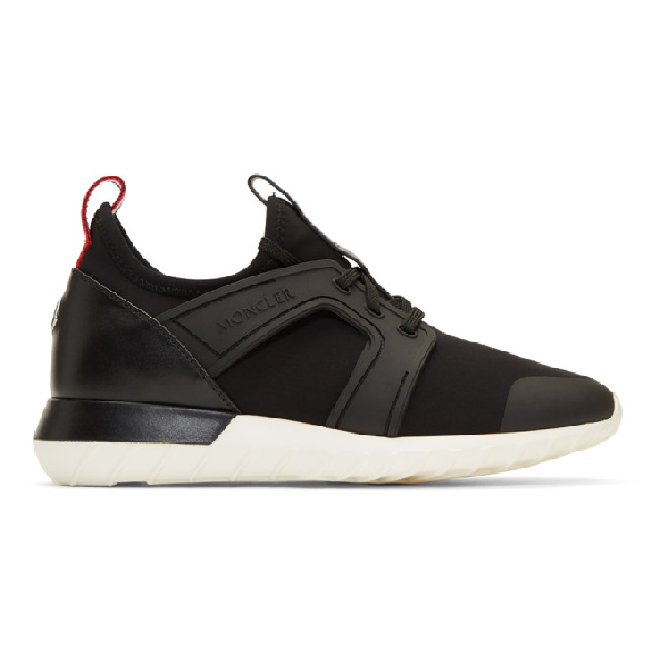 Moncler Classic Embedded Sneakers In 213-999.Blk