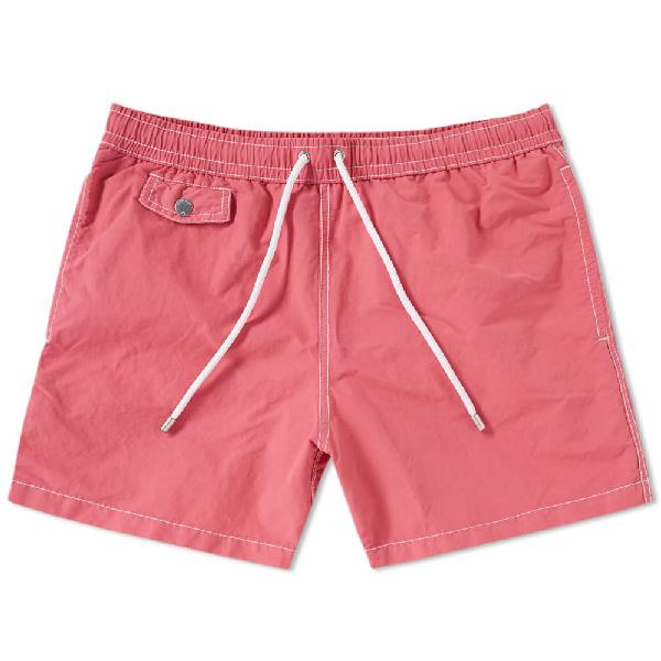 Hartford Boxer + Swim Short In Pink