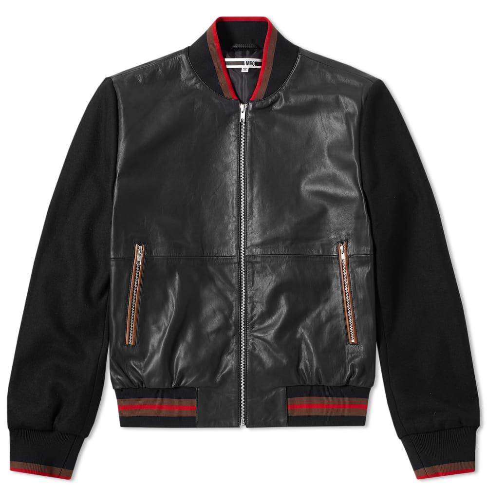 Mcq By Alexander Mcqueen Soft Leather Blouson Jacket In Black