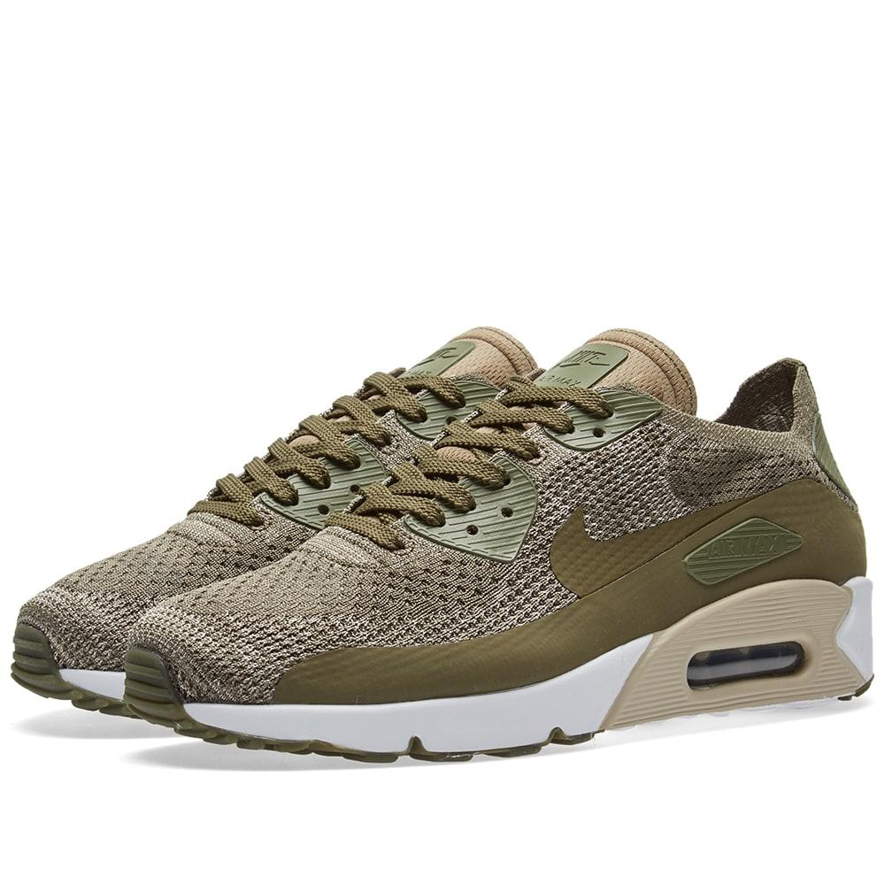 online store cbe88 74c2d Nike Air Max 90 Ultra 2.0 Flyknit in Green