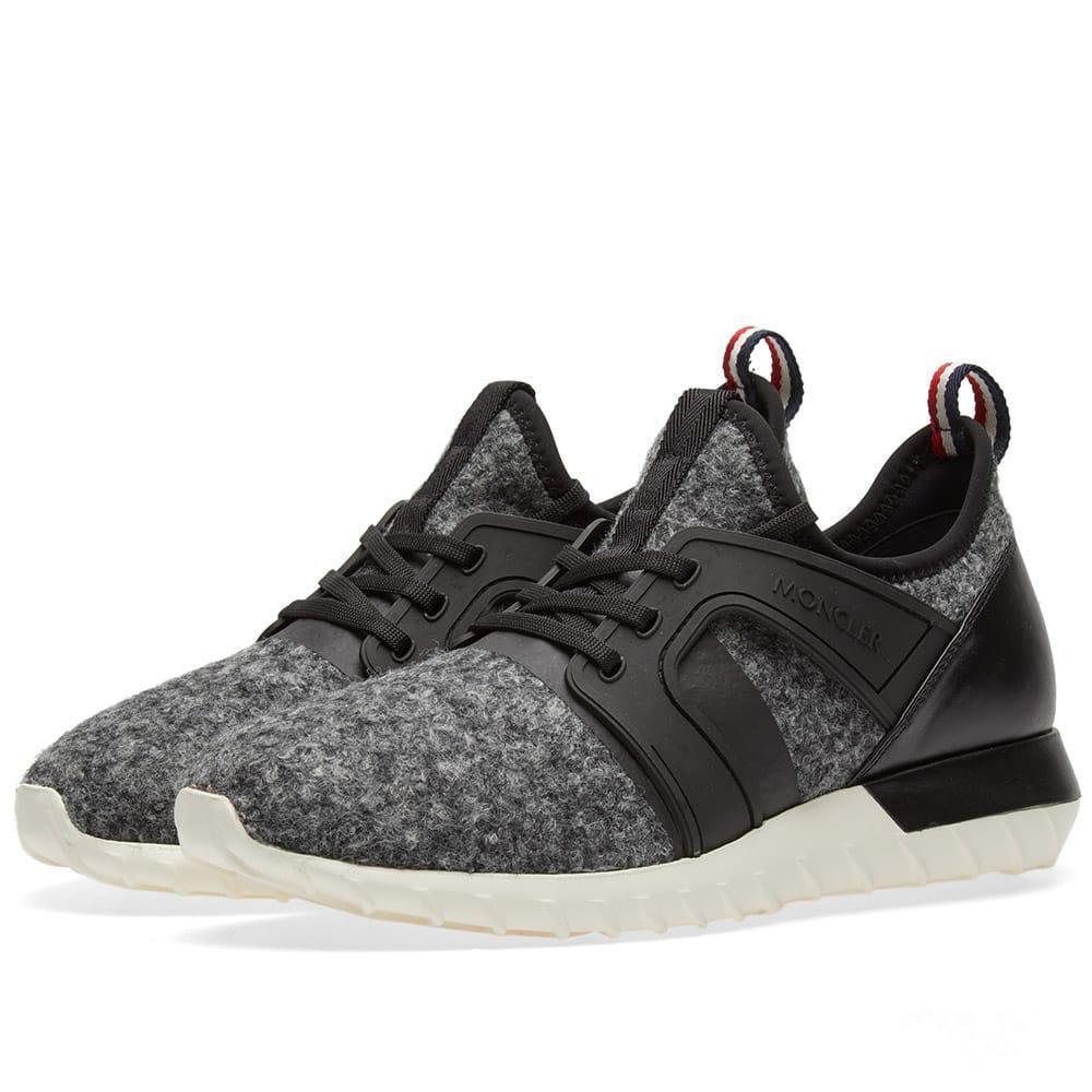 Moncler Emilien Wool Sneaker In Grey