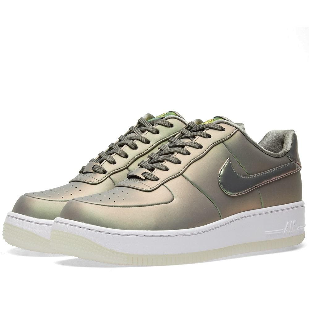 timeless design 1005d a7ad5 Nike Air Force 1 Metallic Faux Leather-Trimmed Crushed-Velvet ...
