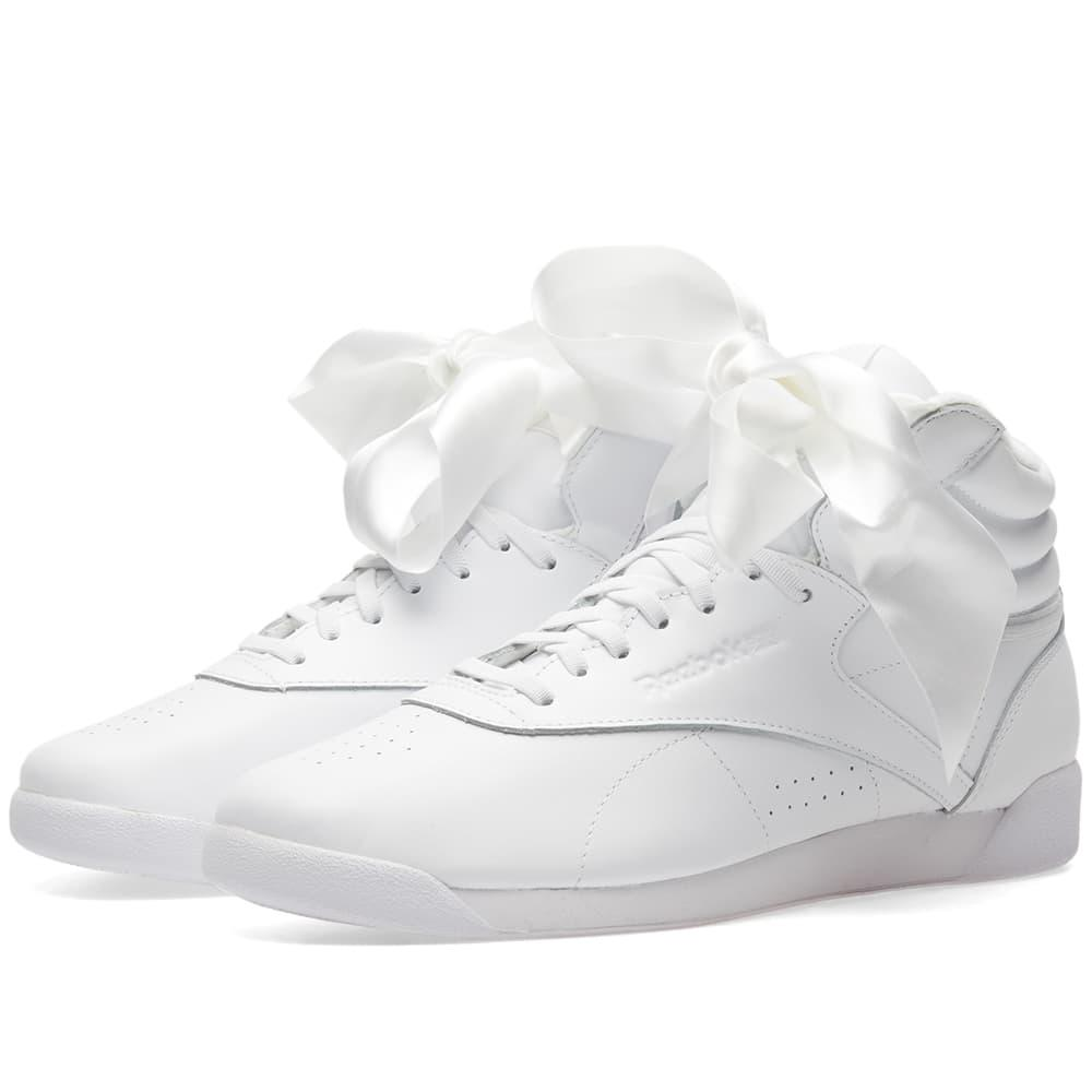 196be1f75d79f Reebok Freestyle Hi Satin Bow W In White