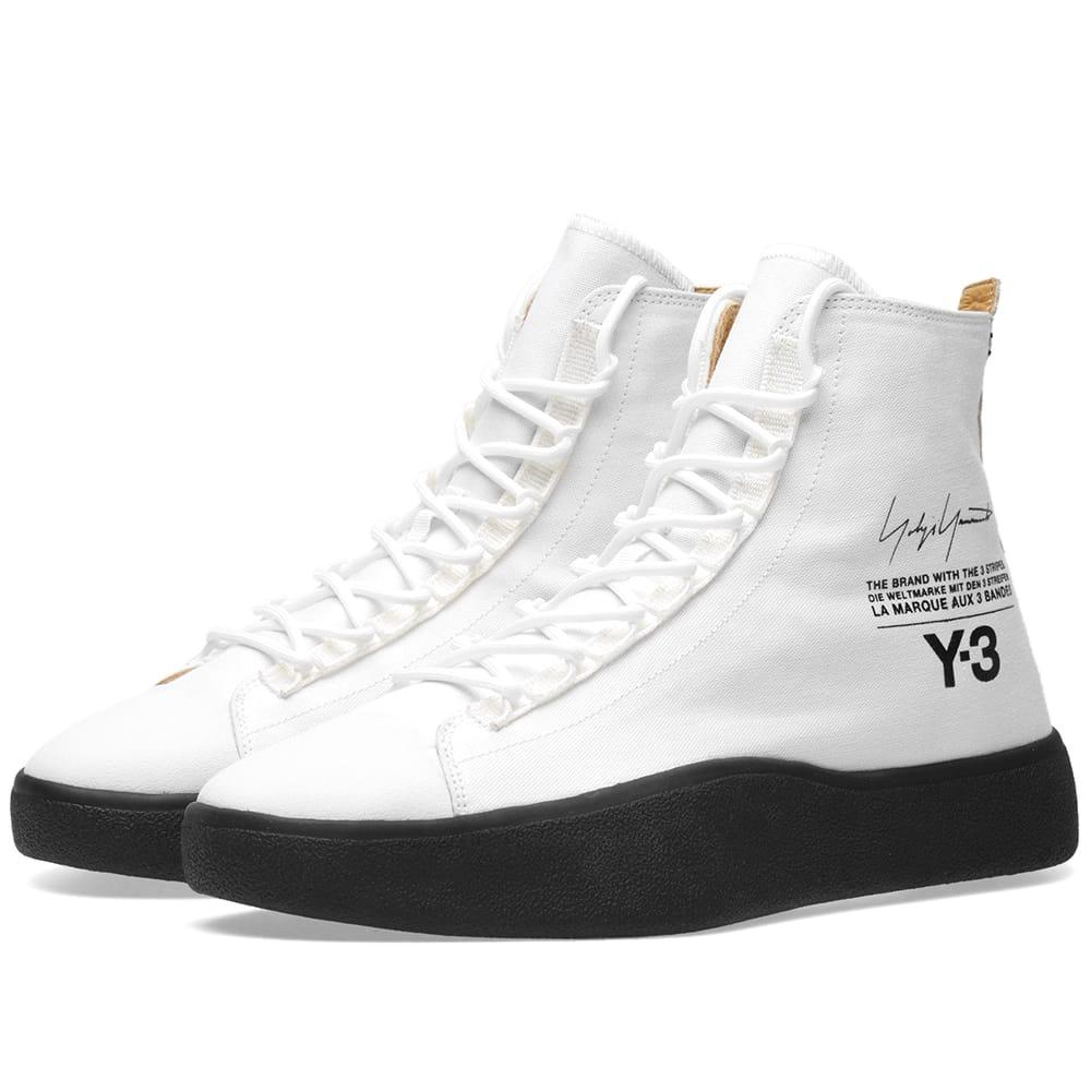498567137 Y-3 Men s Bashyo High Top Sneakers In White