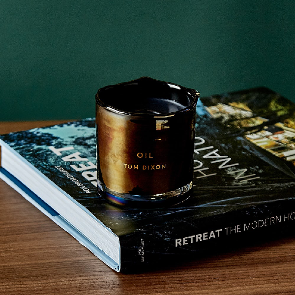 Tom Dixon Oil Candle In Blue