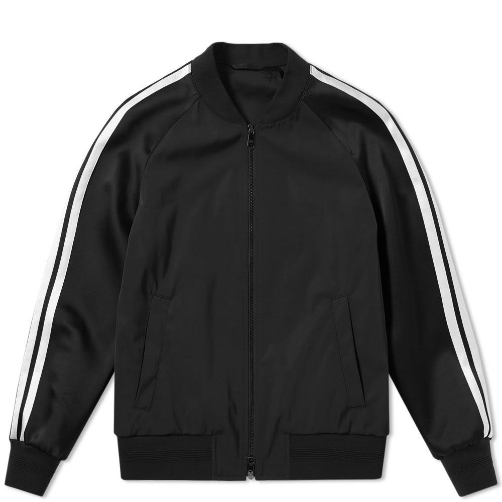 Neil Barrett Fair Isle Thunderbolt Varsity Jacket In Black