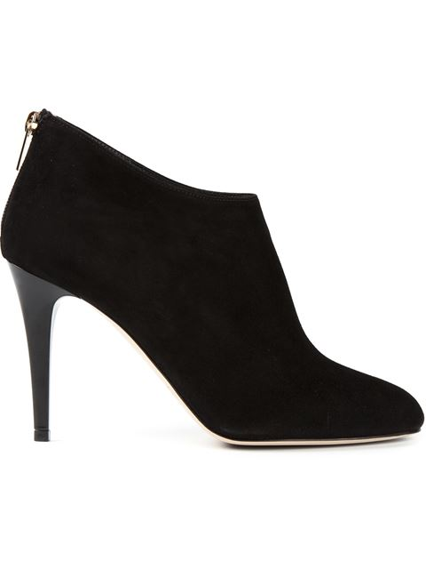 Jimmy Choo Mendez Grainy Calf Leather Ankle Boots In Black