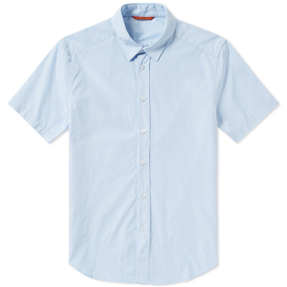 Barena Venezia Barena Giora Short Sleeve Shirt In Blue