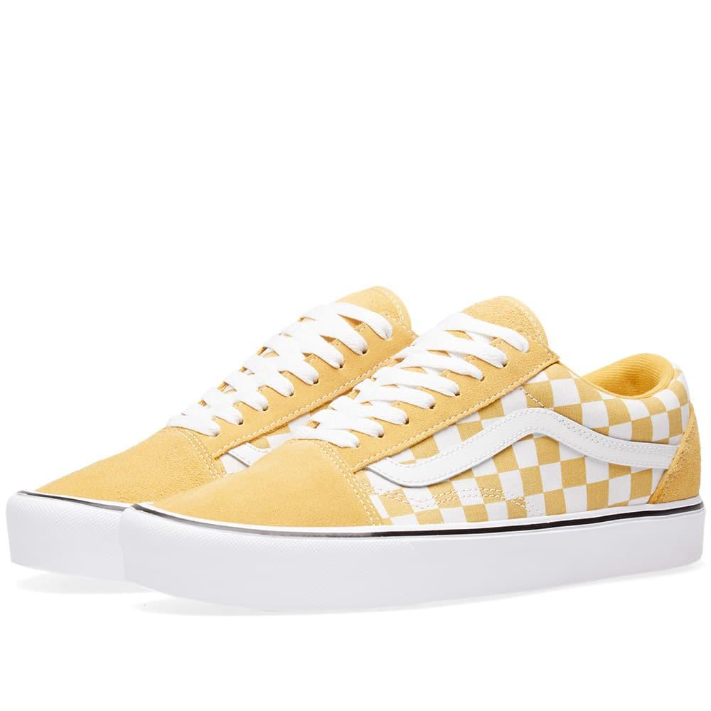Vans Old Skool Lite Checkerboard In Yellow Modesens