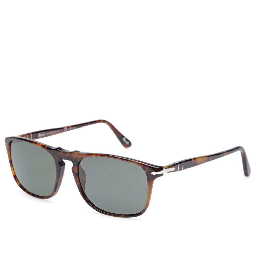087c648eb69b5 Persol 3059S Square Framed Polarised Aviator Sunglasses In Brown ...