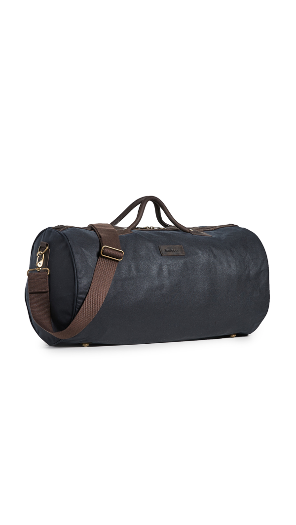 Barbour Wax Holdall Duffel In Navy