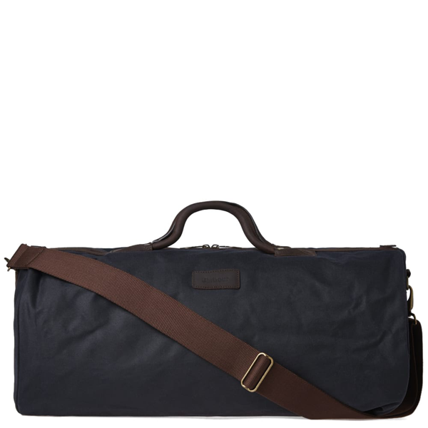 Barbour Wax Holdall Duffel In Blue