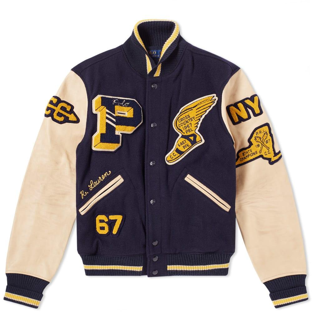 Polo Ralph Lauren Leather Sleeve Varsity Jacket - Jackets