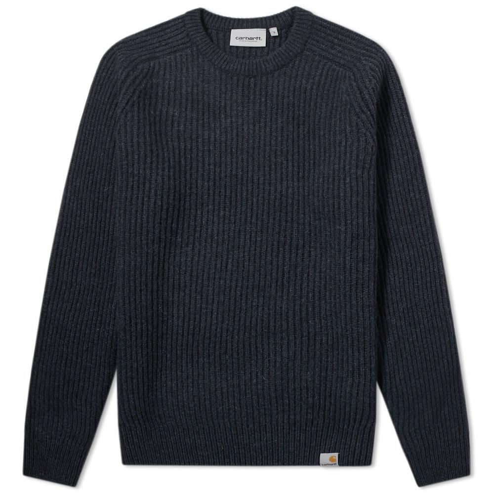 Carhartt Rib Crew Knit In Blue