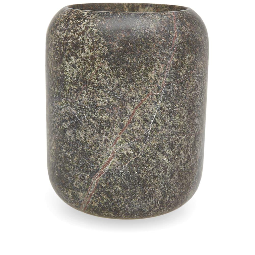 Tom Dixon Stone Candle In Green