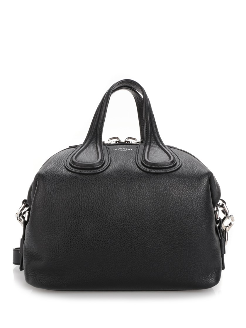 Givenchy Nightingale Small Leather Bag In Black