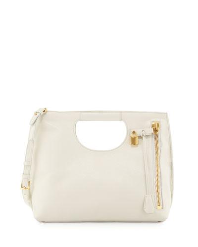 Tom Ford Alix Medium Shopper Tote Bag, White