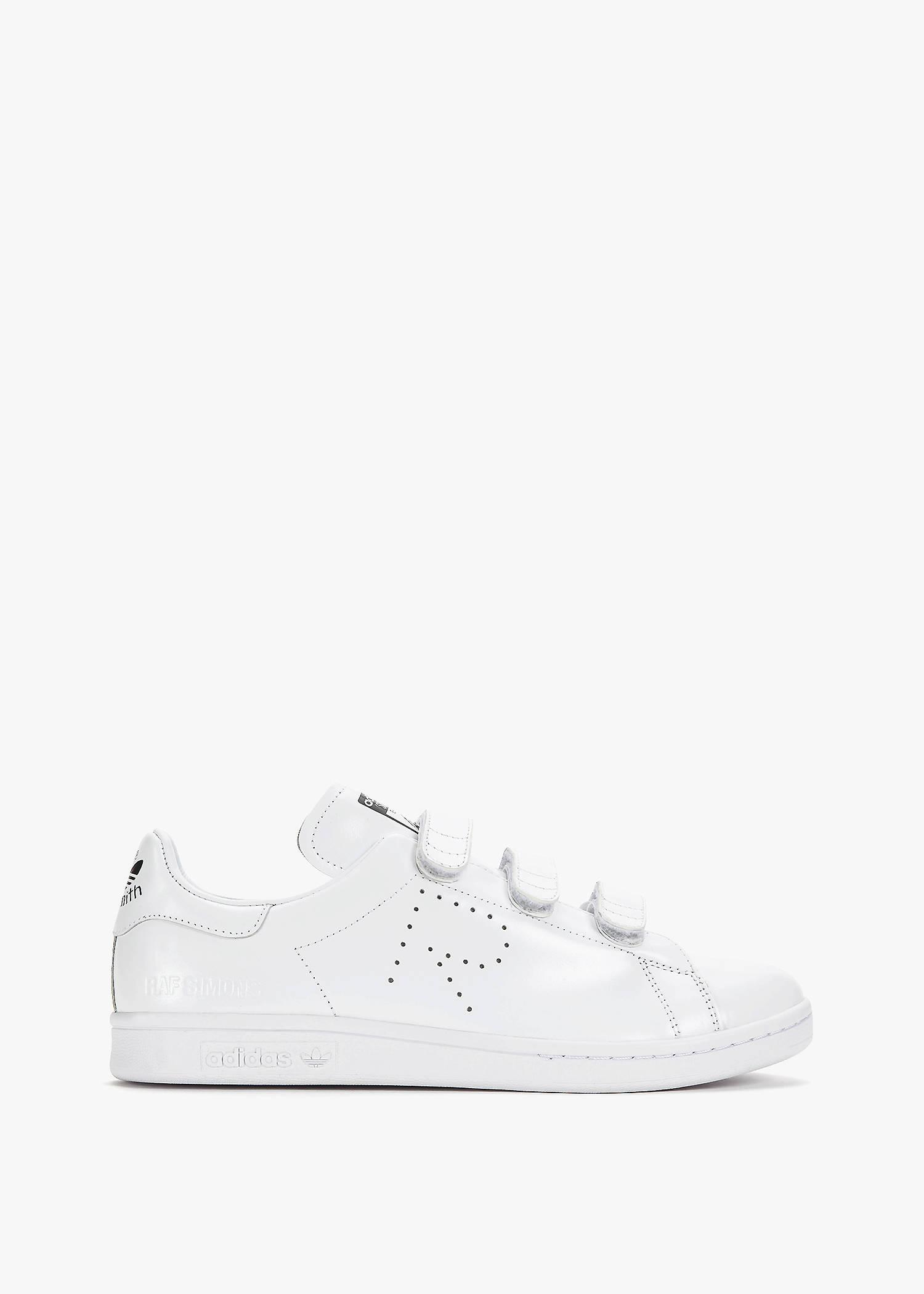 c314364130724 ADIDAS BY RAF SIMONS. Raf Simons Stan Smith Comfort in Ftw White Ftw White Core  Black