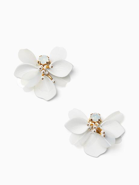 Kate Spade Vibrant Life Leather Statement Studs In White Multi