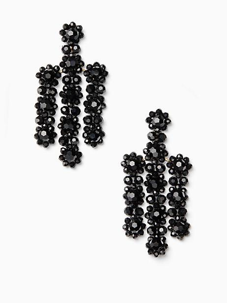 Kate Spade The Bead Goes On Statement Earrings In Jet