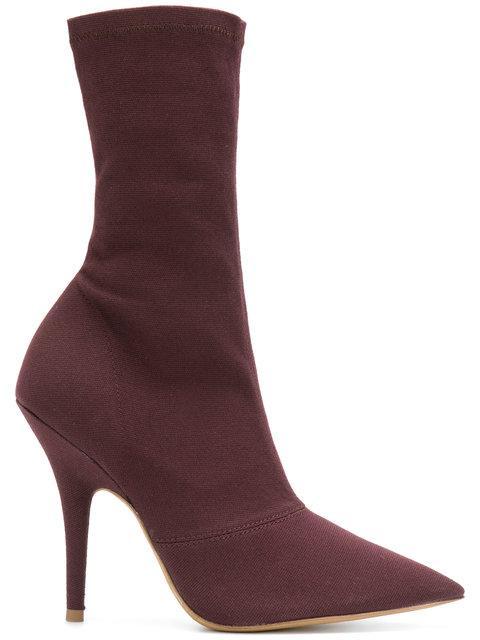 b1904583a16da Yeezy Season 6 Ankle Boots In Oxblood