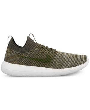timeless design 0eeba bd835 Nike Men s Roshe Two Flyknit V2 Casual Sneakers From Finish Line In  Sequoia Cargo Khaki
