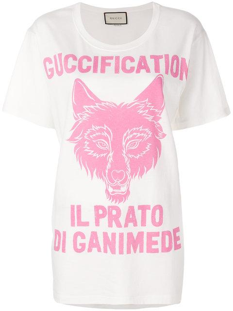 e99918eb910 Gucci Soave Amore Fication Print T-Shirt